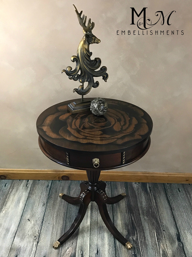 Refined~Elegant~Sophisticated Drum Table