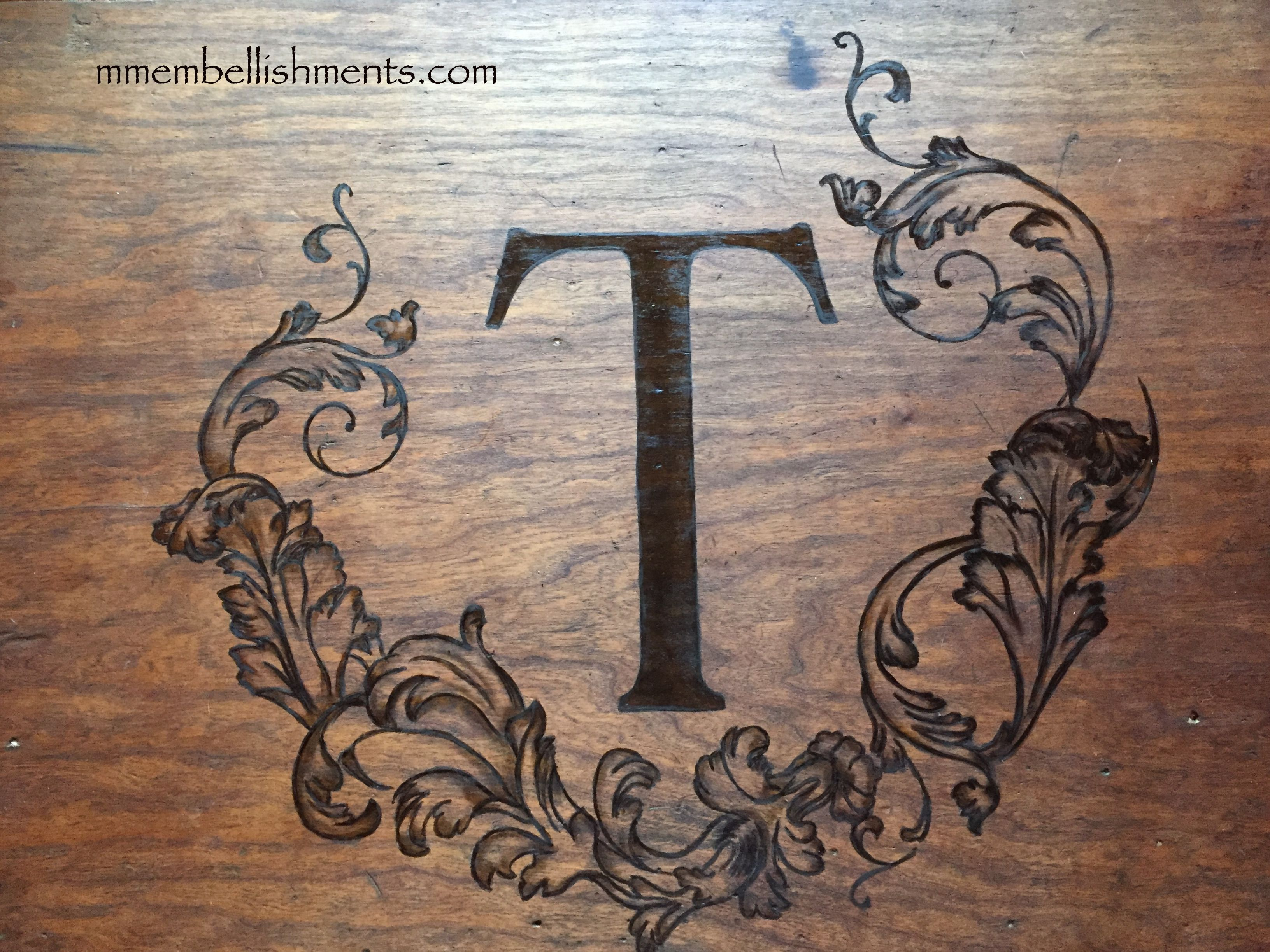 13 antique dresser monogram