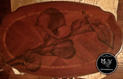 Hand Stained Calla Lily Coffee Table