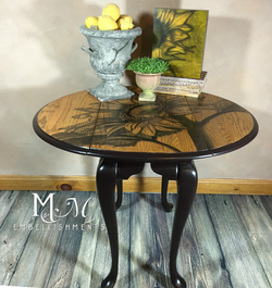 Stain shaded Sunflower Dropleaf Table