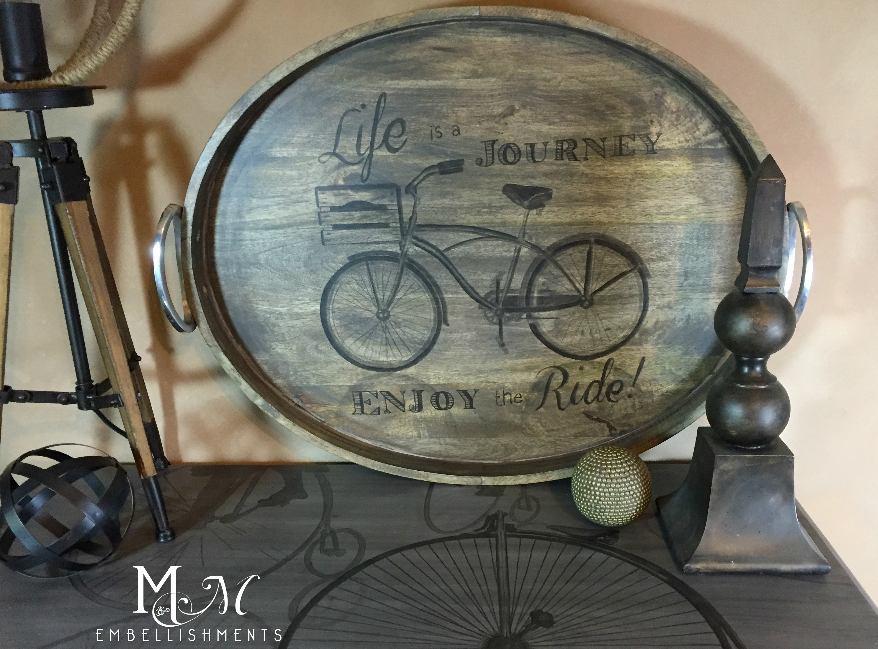 Stained Bicycle Tray