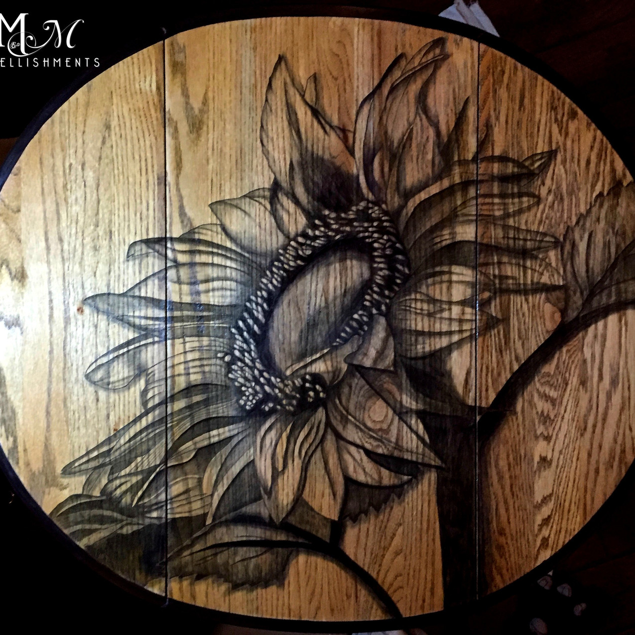 Hand Stained Sunflower