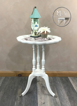 17 hand stained rose table 1