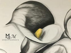 stain painted calla lily