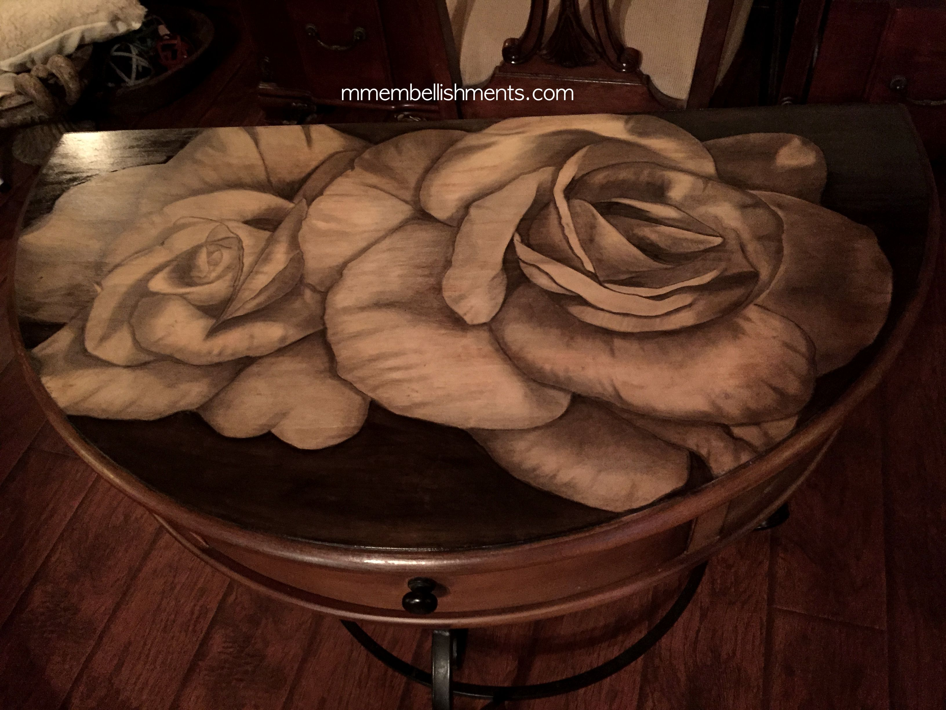 25 Double Rose STain TAble