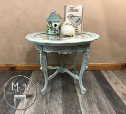 22 hand stained rose table