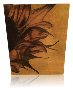Sunflower Stained Art on Wood Panel
