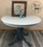 Hand Painted Gray Wash Dining Table