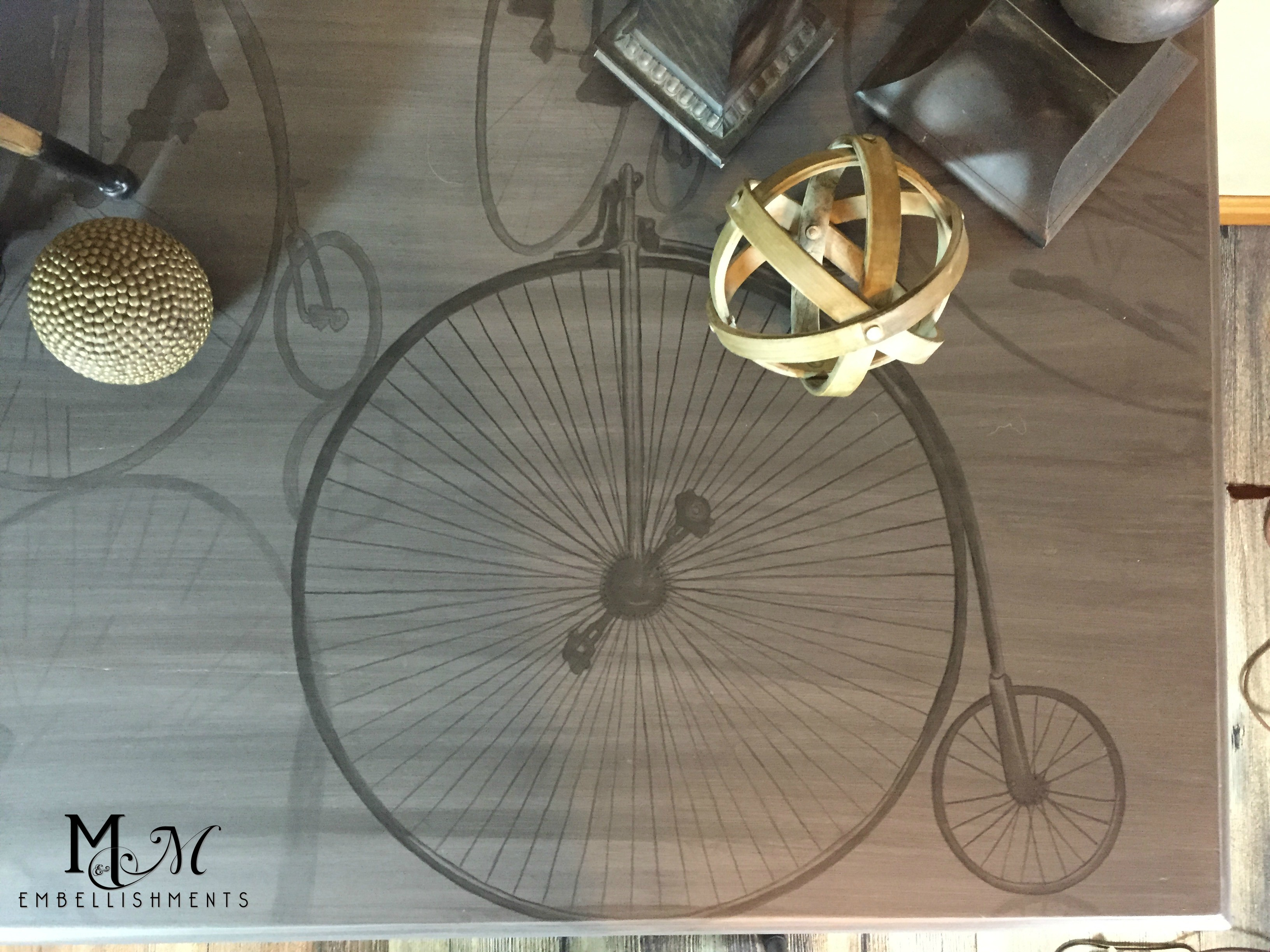 Penny Farthing Writing Desk