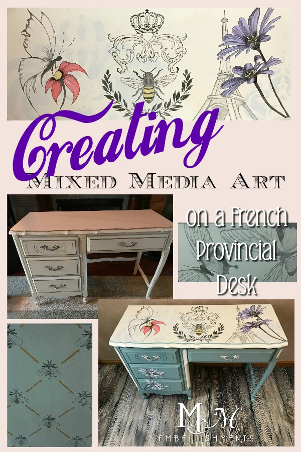 French Provincial Mixed Media Desk