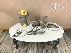 stain shaded calla lily coffee table