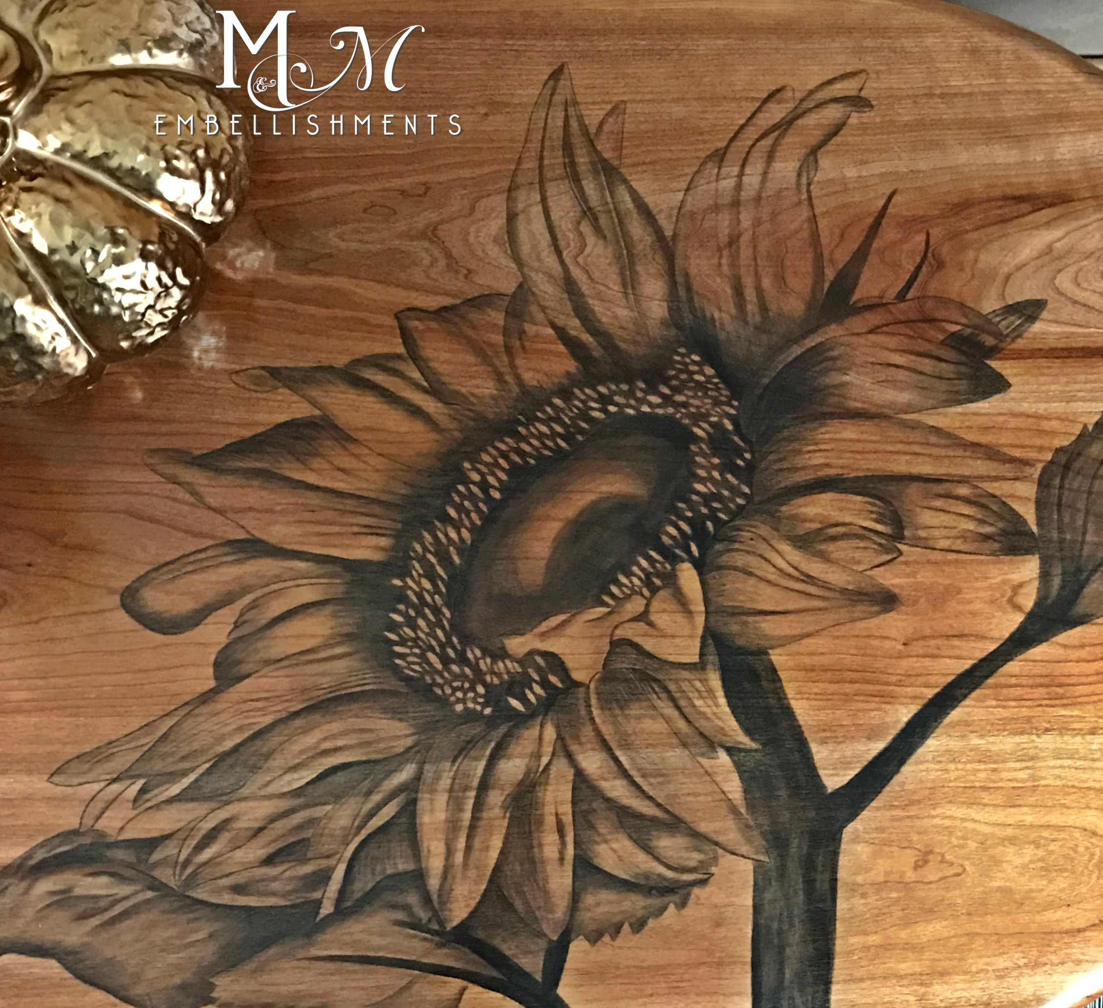 stain shading sunflower table