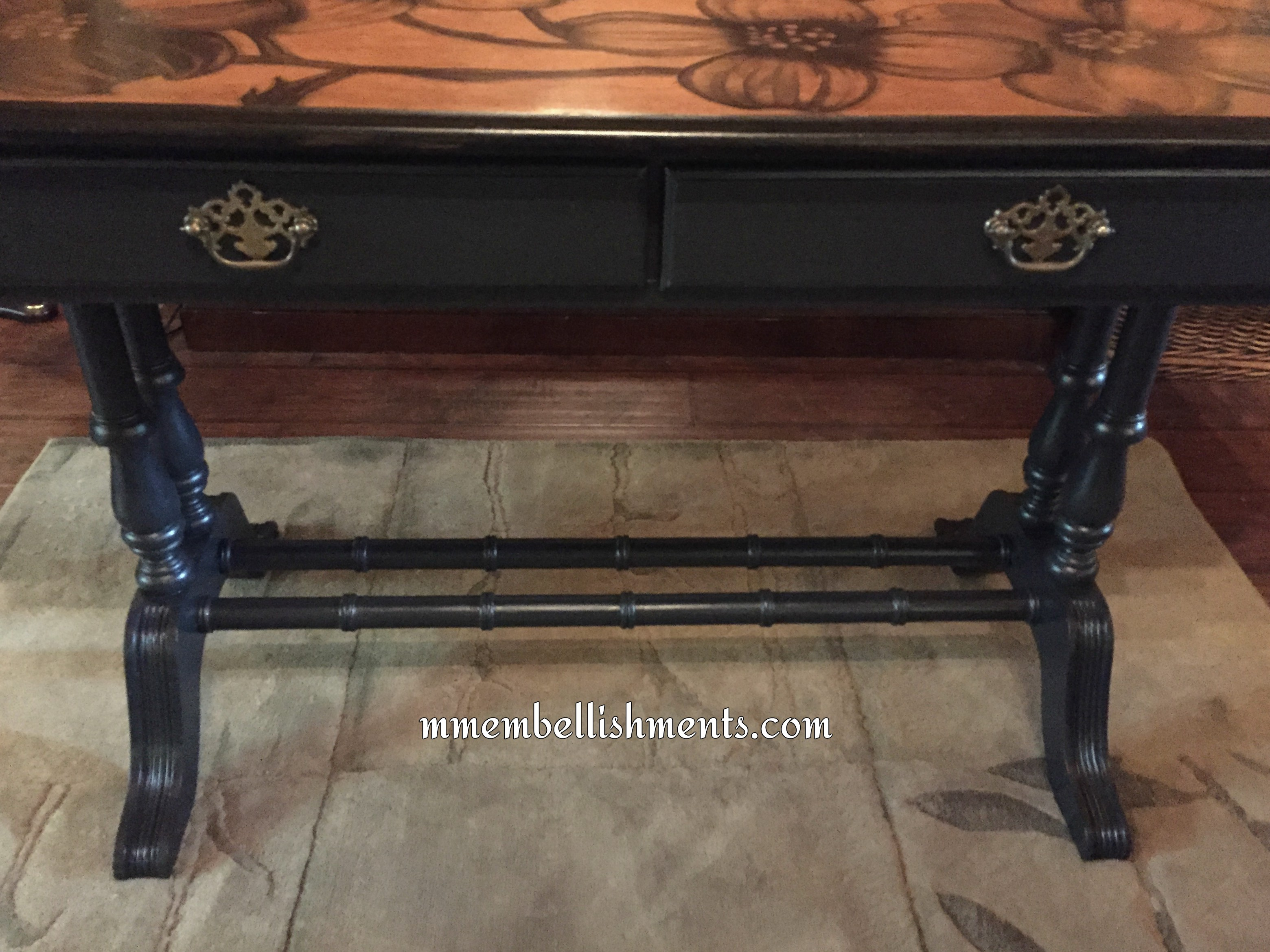 Stained Dogwood Library Table