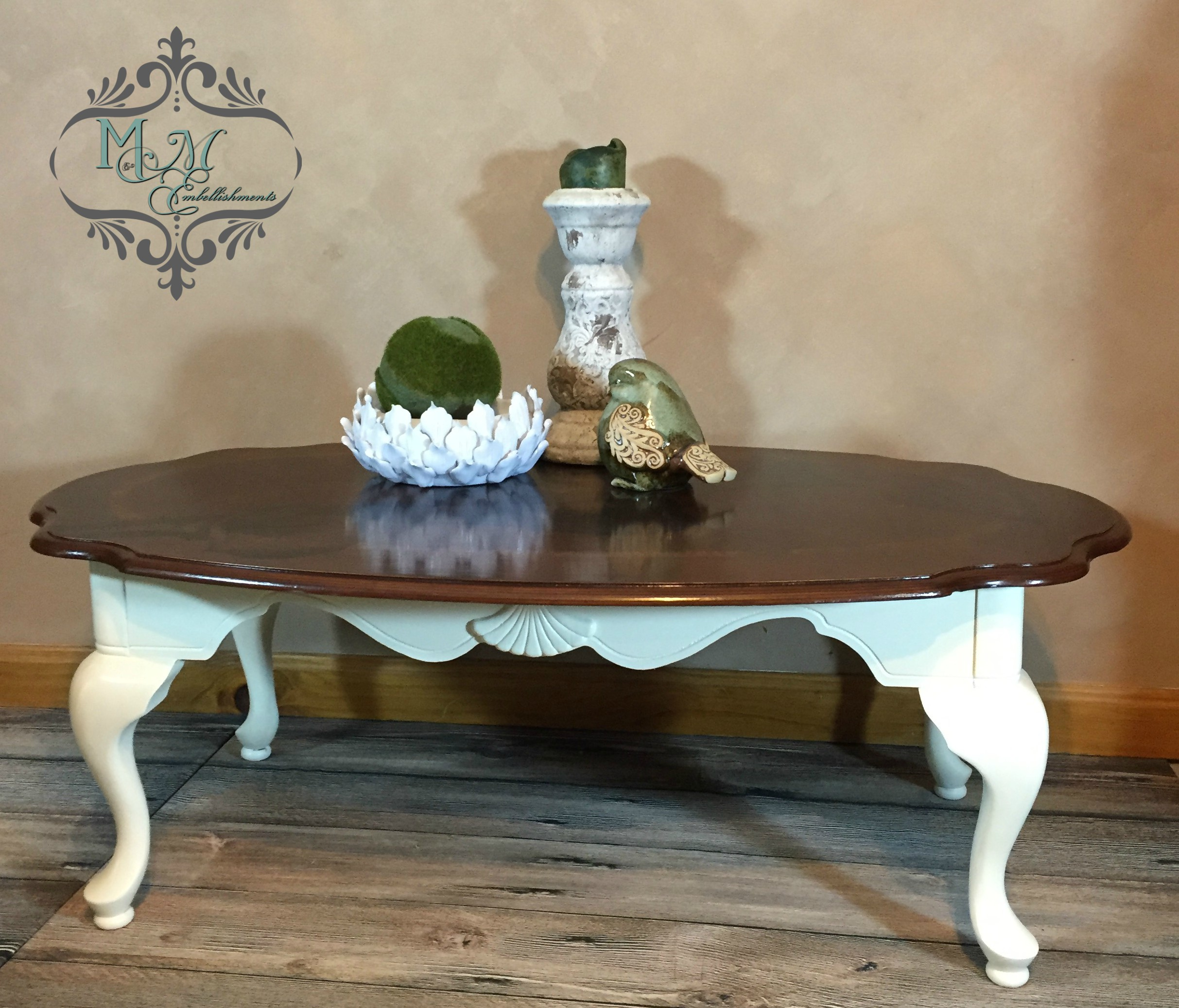 1 Hand Stained Calla Lily Coffee Table