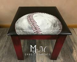 hand painted baseball table