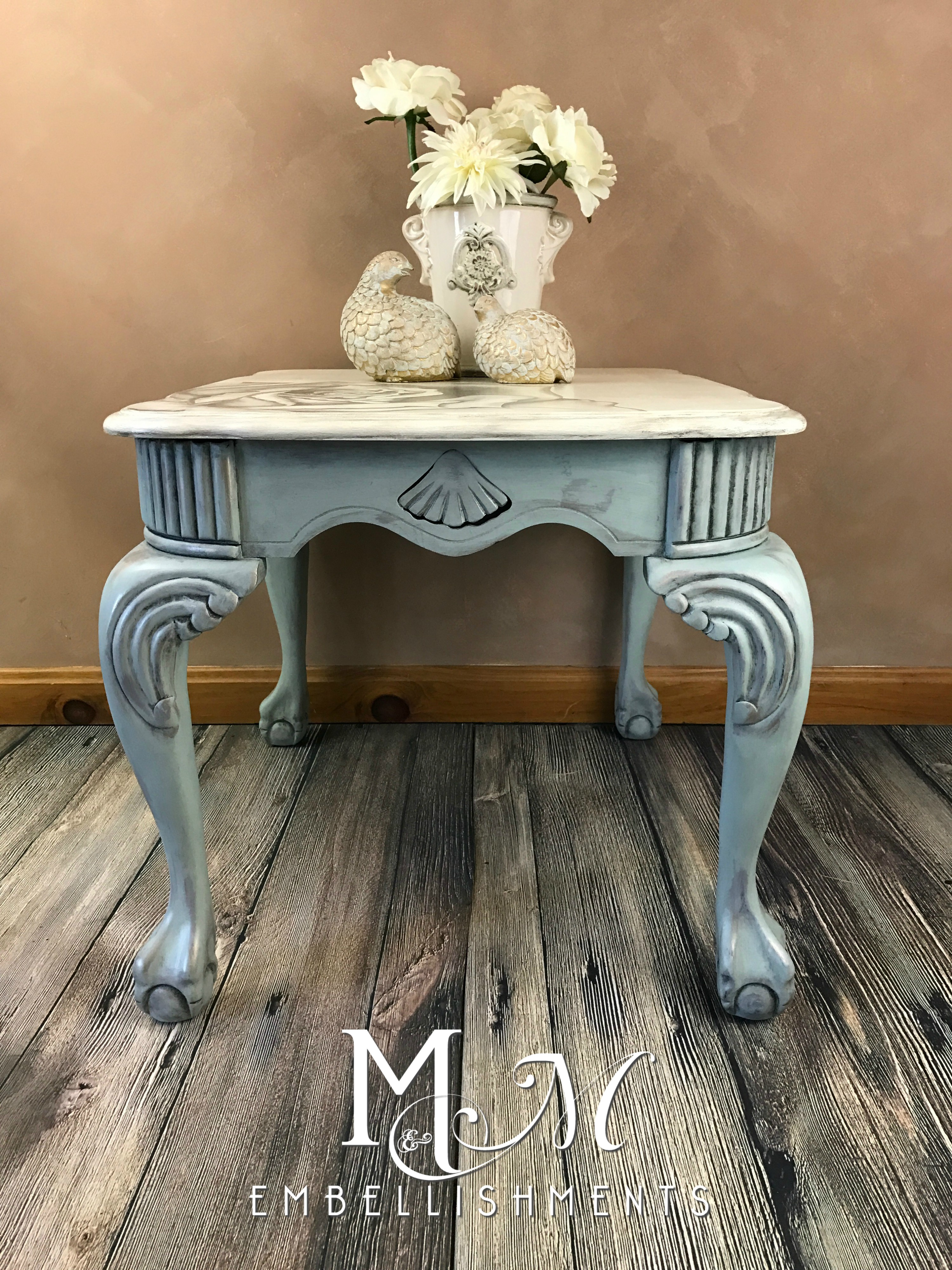 Rose Damask Stain Painted TAble