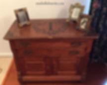 Vintage dressr with hand painted monogram