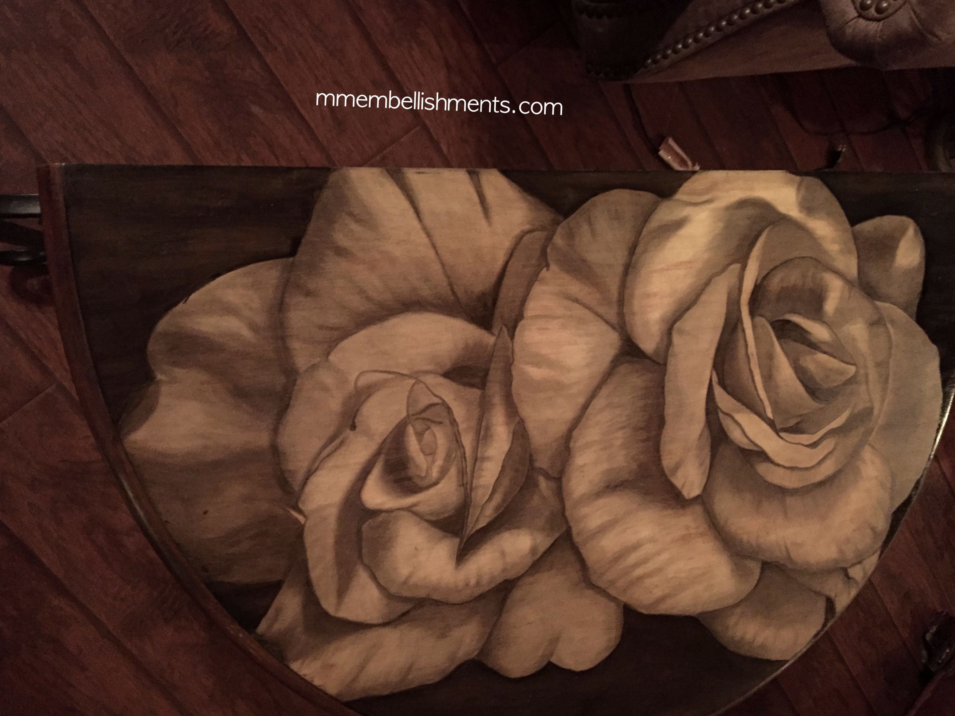24 Double Rose STain Table