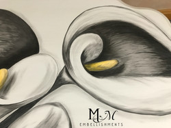detail stain painted calla lily