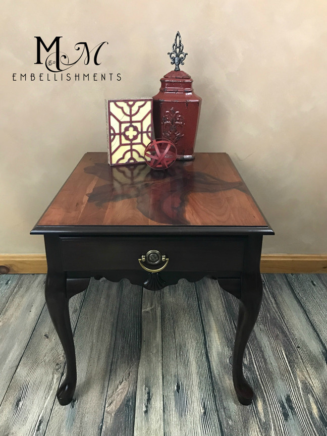 Using Red Dye on Lily-stained Table