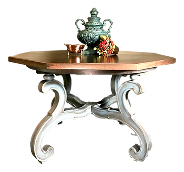Faux Hammered Copper Table