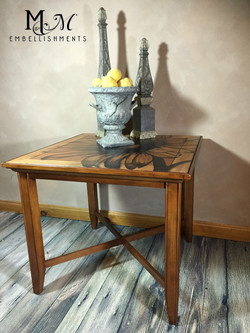 Hand stained sunflower coffee table