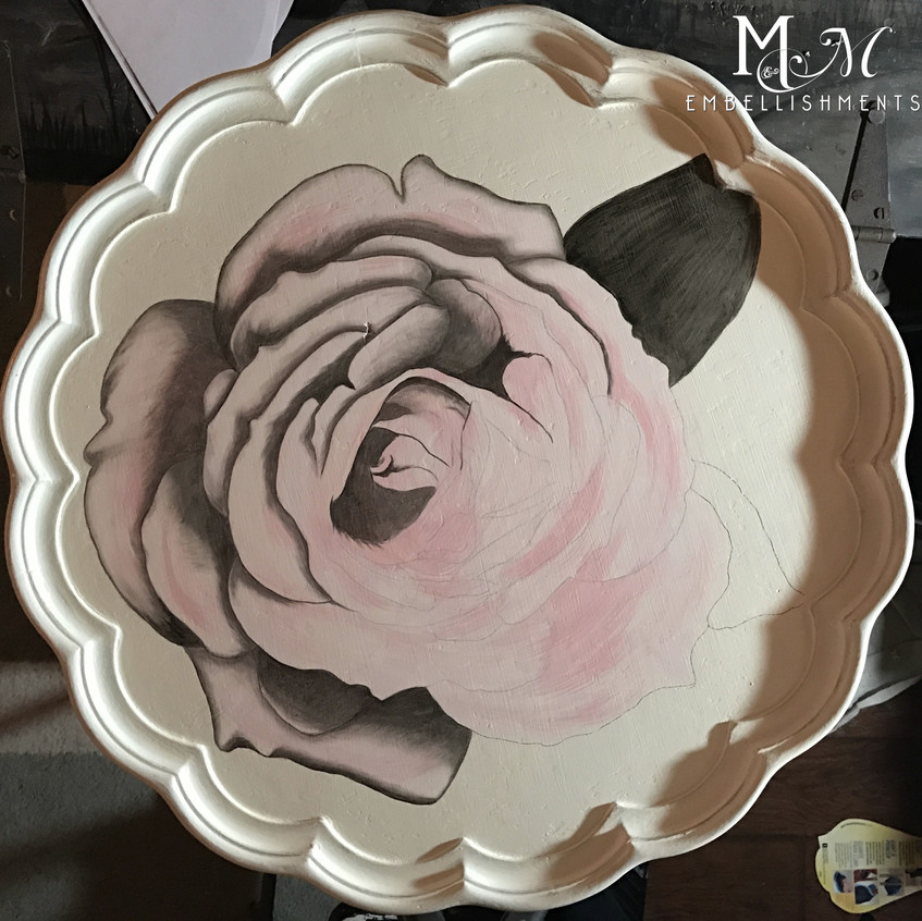 11 stain painted rose