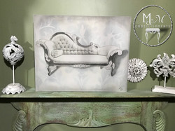 Hand Stained Vintage Chaise