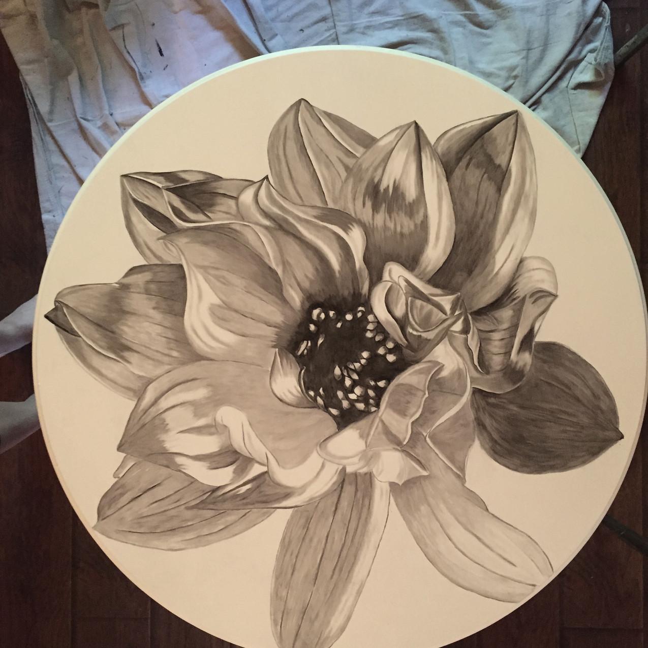 16 Queen Ann Table, Magnolia 2