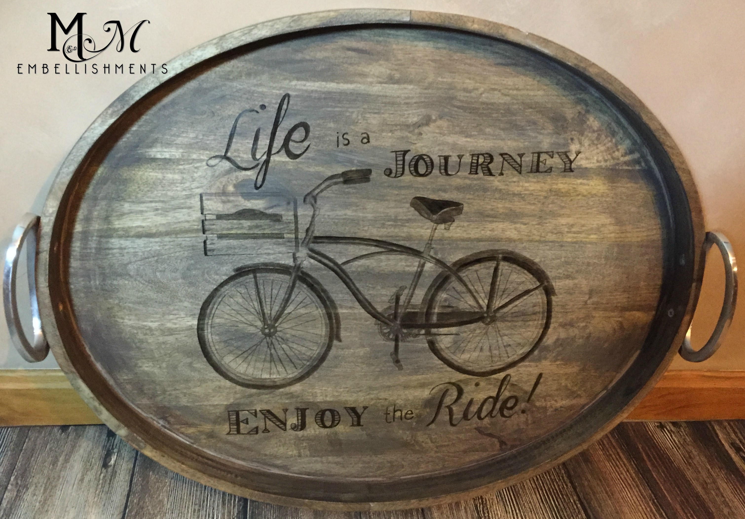 Stained Bicyle Tray