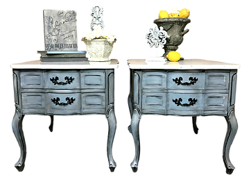 Hand painted marble nightstands