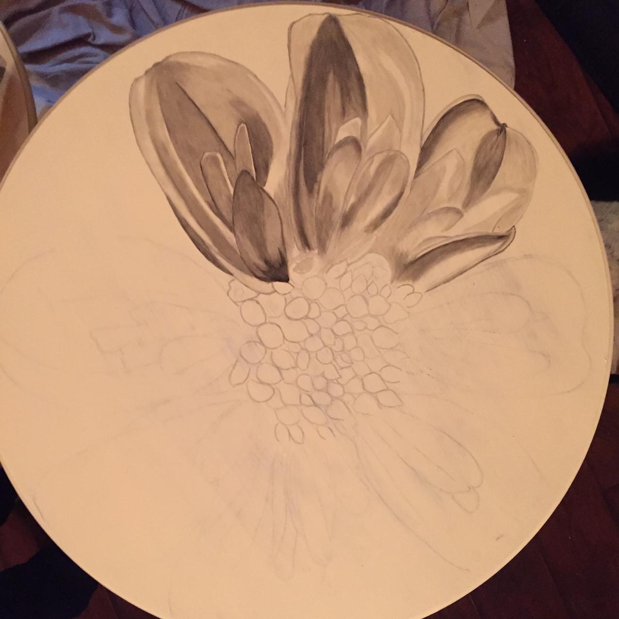 3 Queen Ann tables, Magnolia 1