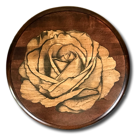 Stained Rose on Pedestal table