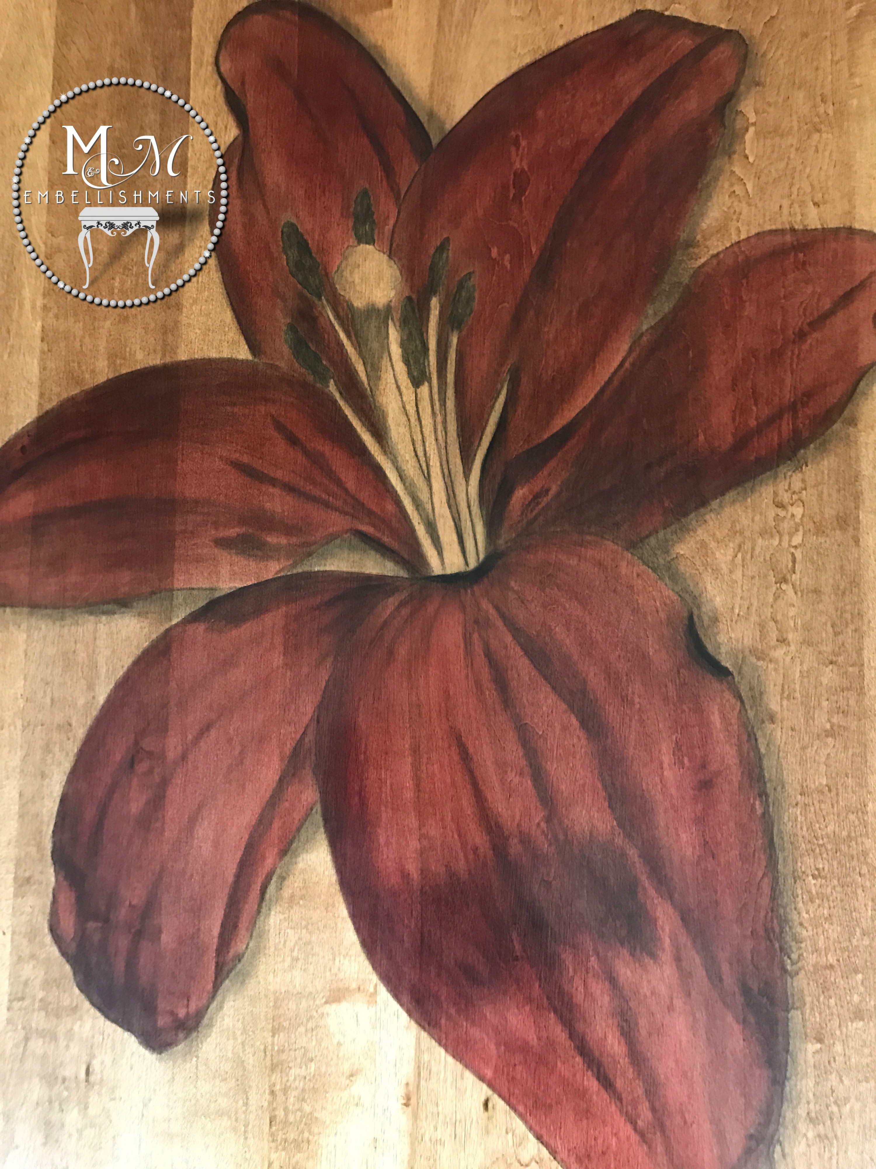 14 Red Stained Lily