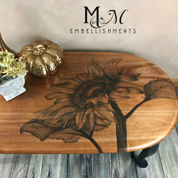 stain shaded sunflower table