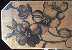 13 dogwood stained library table