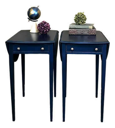 Hand Painted Vintage End Tables