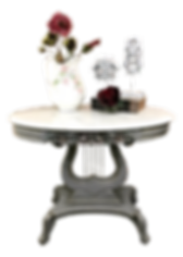Marble Top Lyre Table