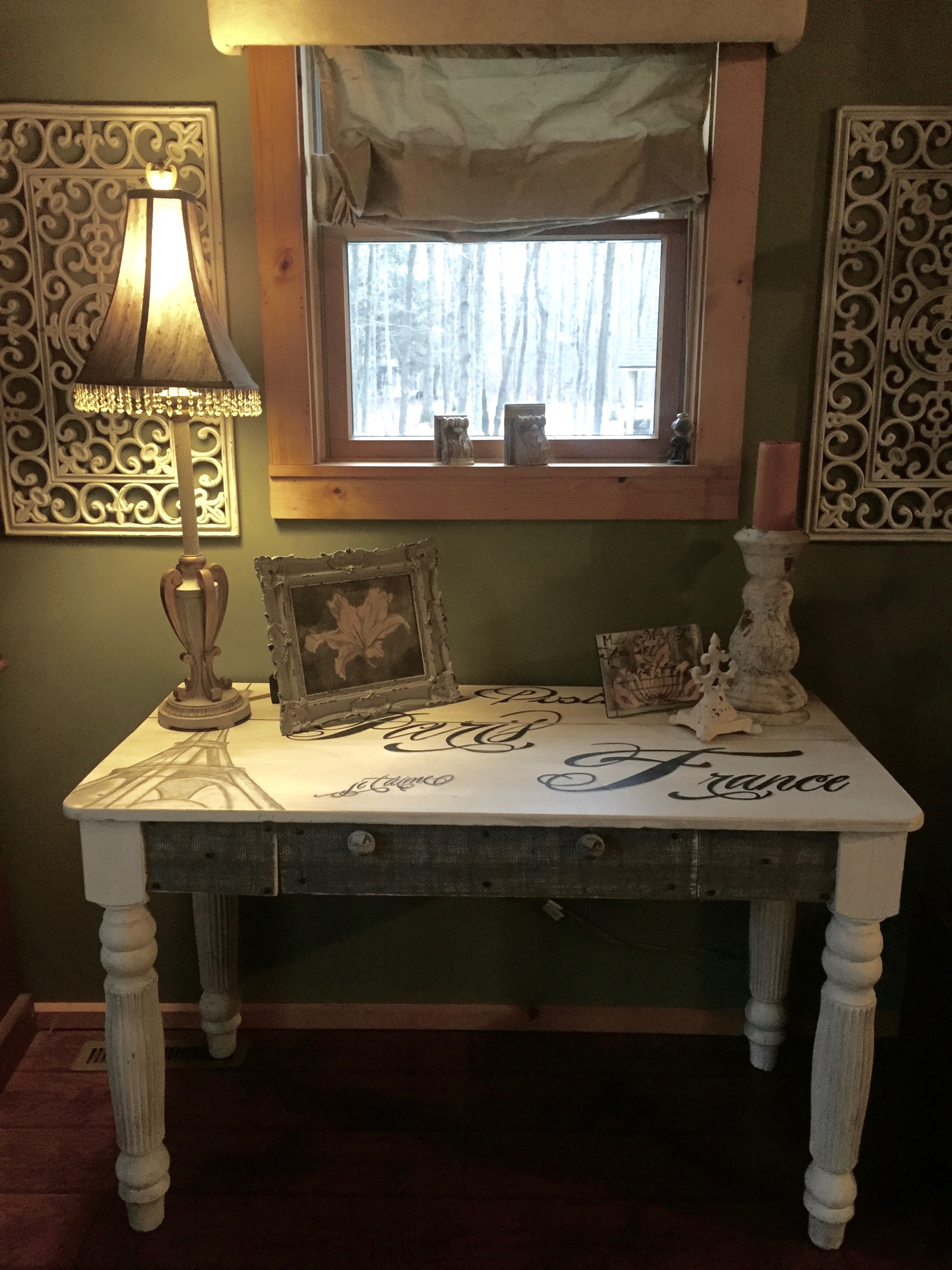 French Postcard Table