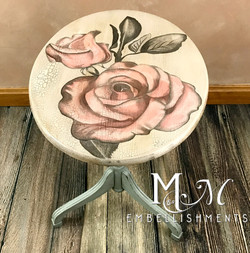 stain painted rose table
