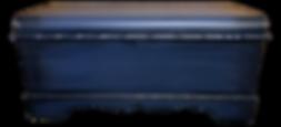 Hand painted vintage cedar chest