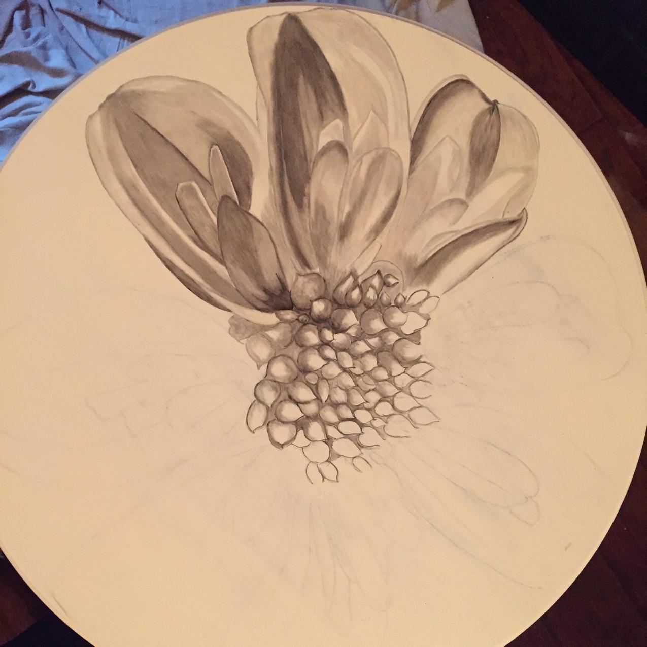 4 Queen Ann tables, Magnolia 1