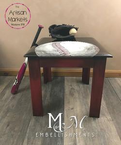 baseball art table