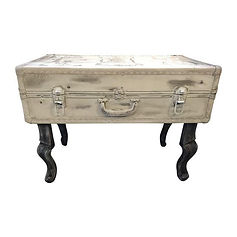 Steamer Trunk Coffee Table with custom artwork