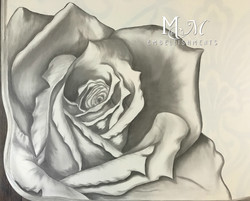 Stain shaded rose