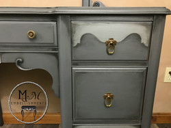 25 gray painted vanity