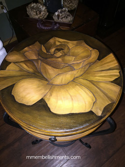 20 Rose stain painted accent table