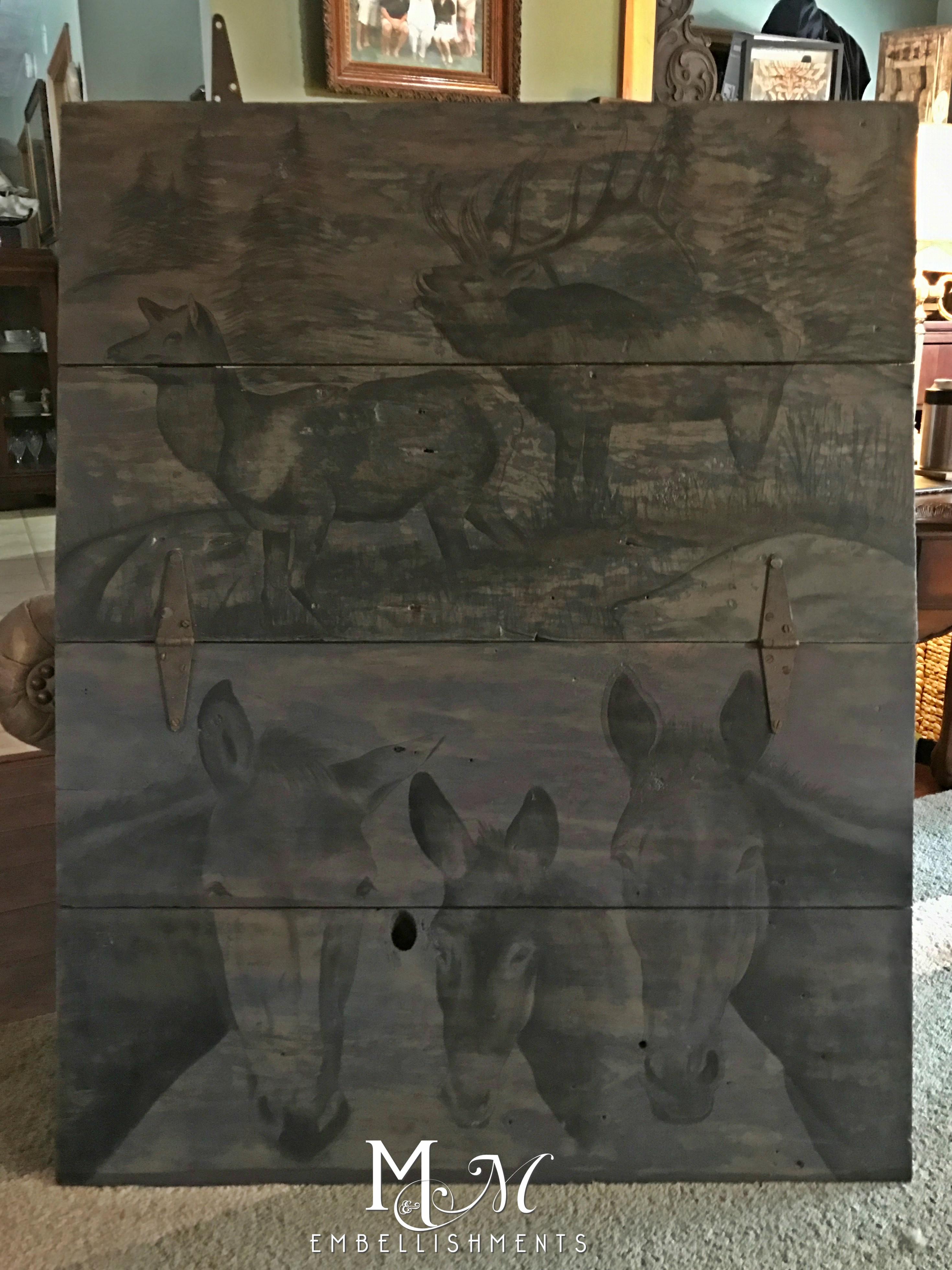 stain painted barn door