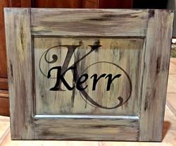 custom monogram sign