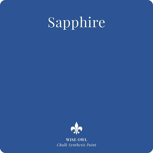 SAPPHIRE, Wise Owl Chalk Synthesis Paint, Pint